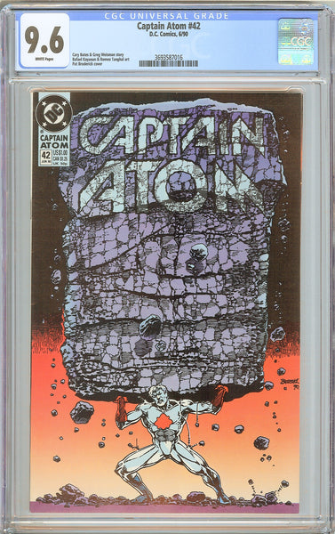 Captain Atom # 42 CGC 9.6 White Pages (1990) 3693587016