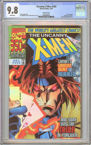Uncanny X-Men #350 CGC 9.8 White Pages (1997) 3693686001 Prism Foil Cover