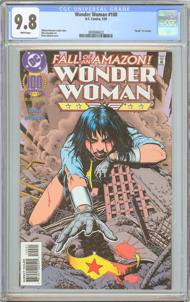 Wonder Woman #100 CGC 9.8 White Pages 1995 3693686022