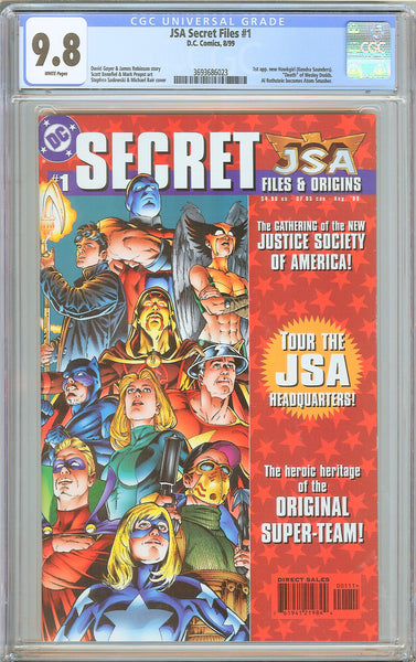 JSA Secret Files #1 CGC 9.8 White Pages 1999 3693686023 Hawkgirl