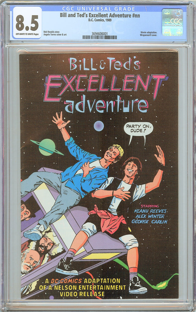 Bill and Ted's Excellent Adventure #nn CGC 8.5 OWT White Pages 3694606001