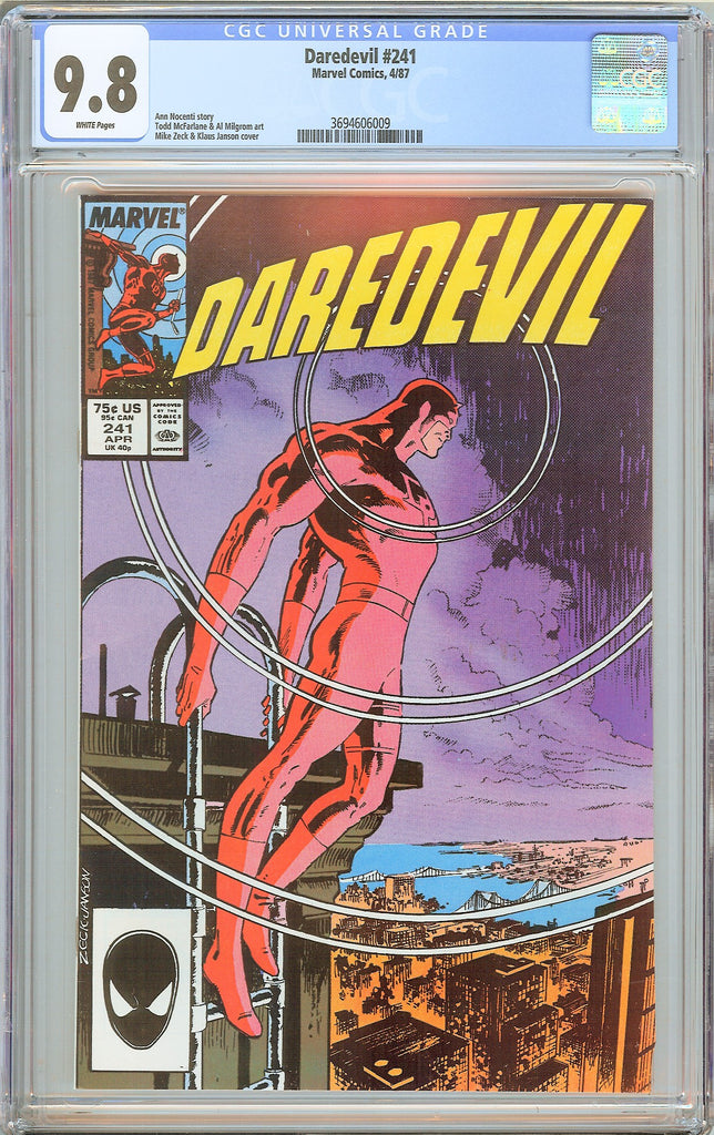 Daredevil #241 CGC 9.8 White Pages (1987) 3694606009
