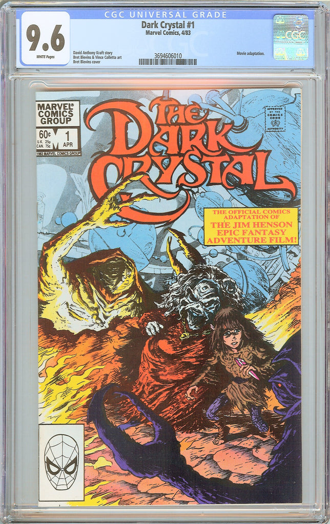 Dark Crystal #1 CGC 9.6 White Pages 1983 3694606010 Movie adaptation