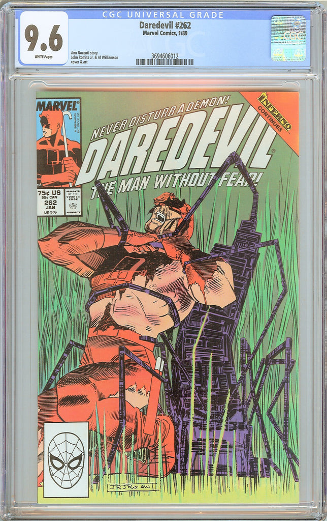 Daredevil #262 CGC 9.6 White Pages (1989) 3694606012