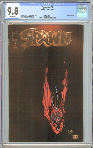 Spawn #74 CGC 9.8 White Pages (1998) 3694606016 Heap appearance