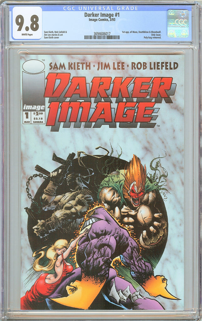 Darker Image #1 CGC 9.8 White Pages 3694606017 1st Maxx, Deathblow, Bloodwulf