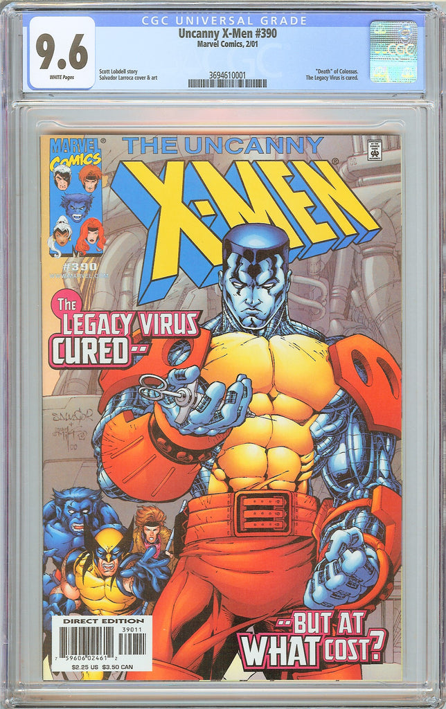 Uncanny X-Men #390  CGC 9.6 White Pages 2001 3694610001 Death of Colossus