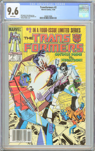 Transformers #2 CGC 9.6 White Pages (1984) 3694610006