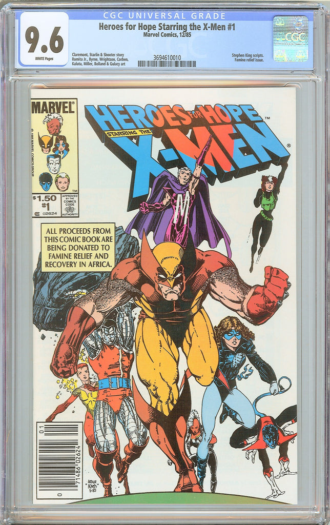 Heroes for Hope Starring the X-Men #1 CGC 9.6 WHITE PAGES 1985 3694610010