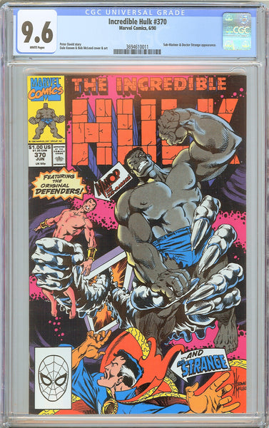 Incredible Hulk #370 CGC 9.6 White Pages 1990 3694610011