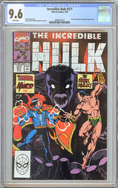 Incredible Hulk #371 CGC 9.6 White Pages 1990 3694610013