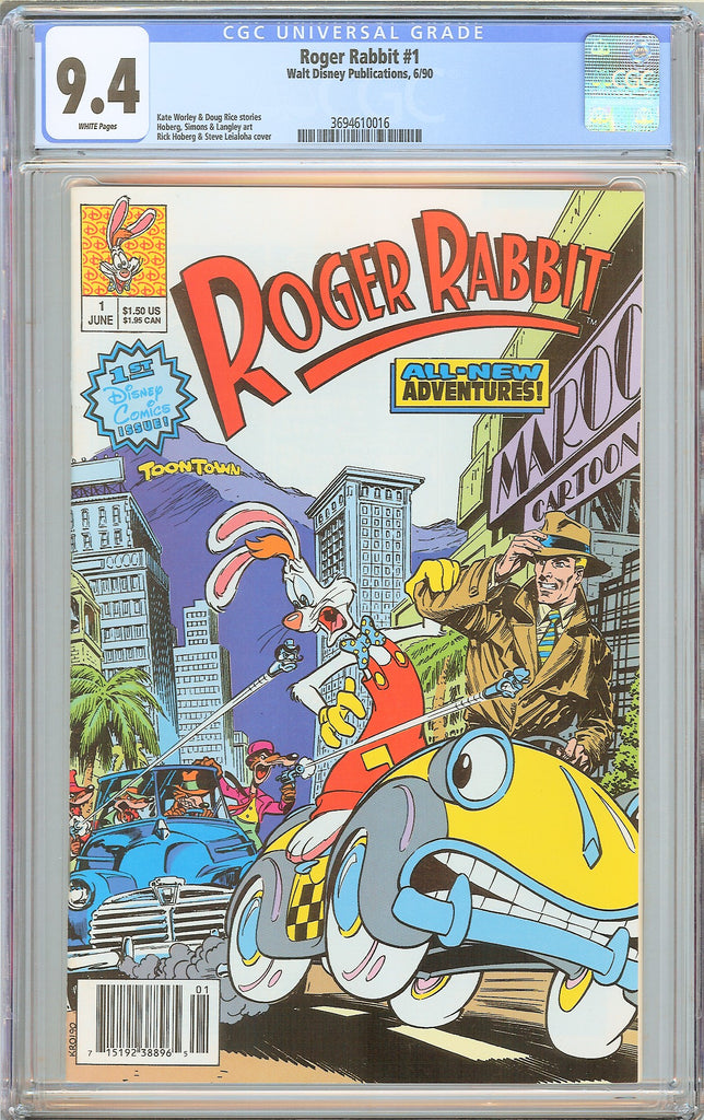 Roger Rabbit #1 CGC 9.4 White Pages (1990) 3694610016