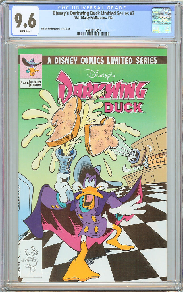 Disney's Darkwing Duck Limited Series #3 CGC 9.6 White Pages 3694610017