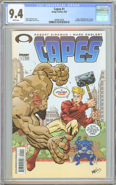 Capes #1 CGC 9.4 White Pages (2003) 3694610018 Walking Dead