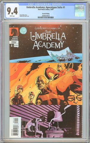 Umbrella Academy: Apocalypse Suite #1 CGC 9.4 White Pages 3694610019 2nd Print