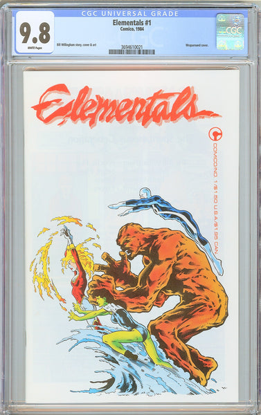 Elementals #1 CGC 9.8 White Pages (1984) 3694610021 Wraparound cover