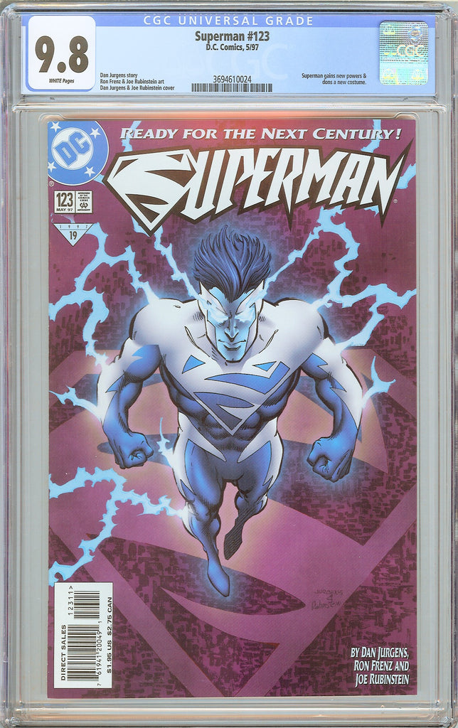 Superman #123 CGC 9.8 White Pages 3694610024