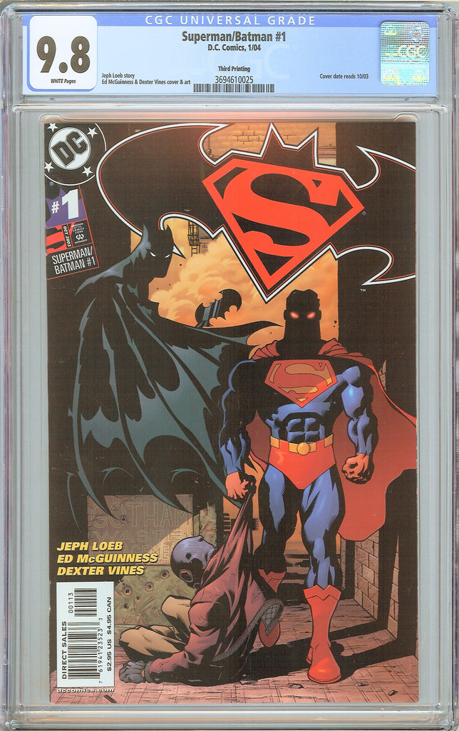 Superman/Batman #1 CGC 9.8 White Pages (2004) 3694610025 3rd printing