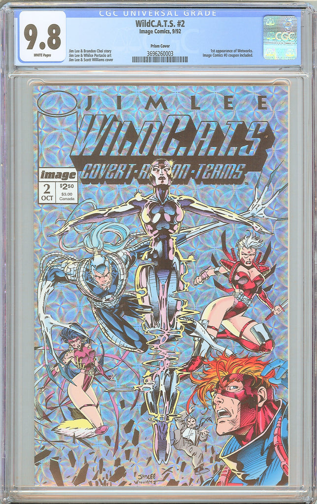 WildC.A.T.S. #2 CGC 9.8 White Pages (1992) 3696260003 Prism Cover