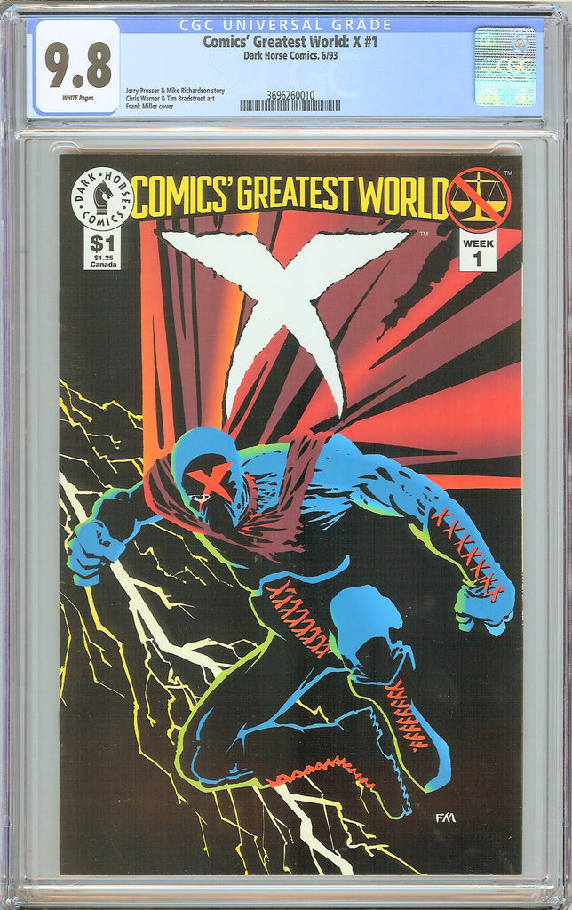 Comics' Greatest World X #1 CGC 9.8 White Pages 3696260010