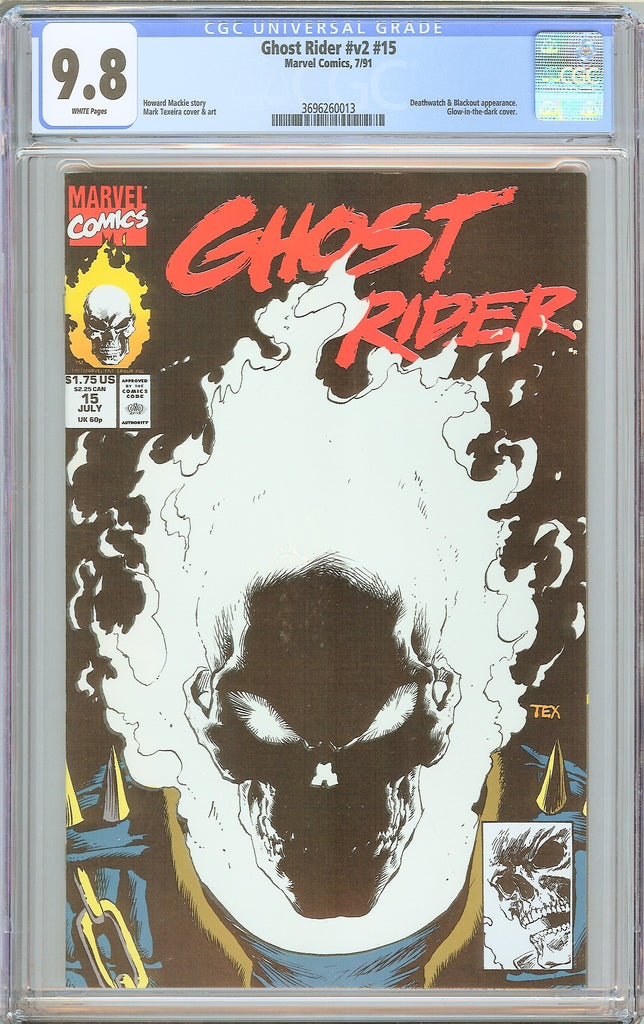 Ghost Rider #v2 #15 CGC 9.8 White Pages 3696260013 Glow-in-the-dark