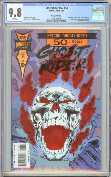 Ghost Rider #v2 #50 CGC 9.8 White Pages 3696260015 Die-cut Foil Cover