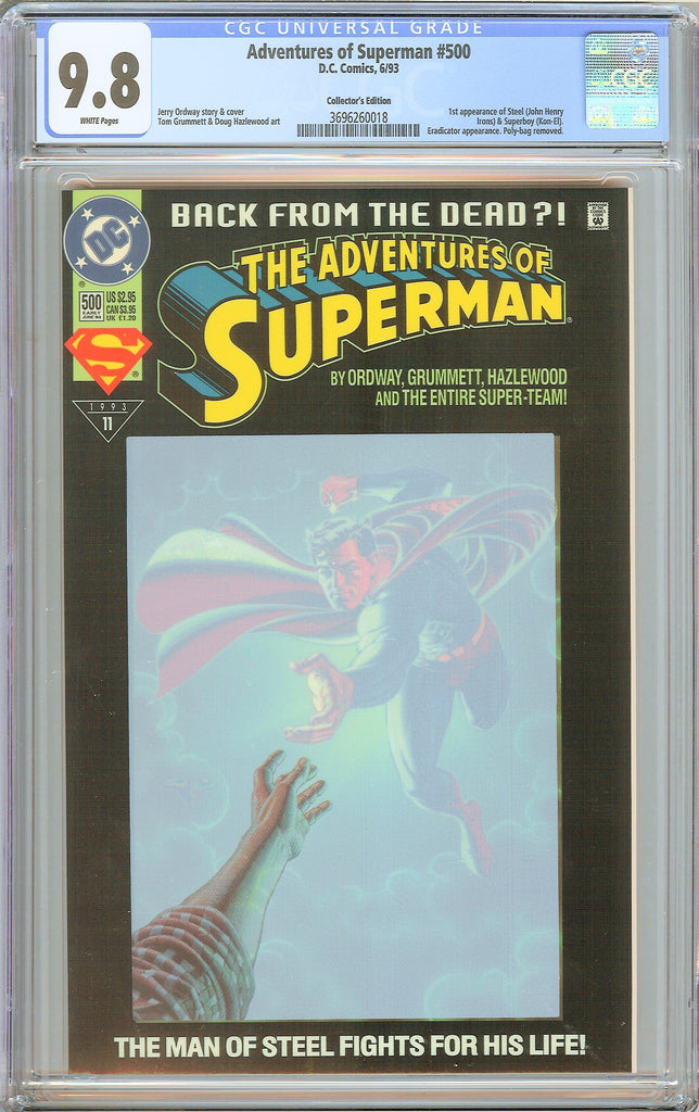 Adventures of Superman #500 CGC 9.8 WP 1993 3696260018 1st Steel