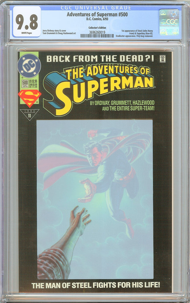 Adventures of Superman #500 CGC 9.8 WP 1993 3696260019 1st Steel