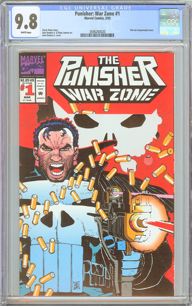 Punisher War Zone #1 CGC 9.8 White Pages 1992 3696260020 Die-cut Wraparound