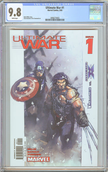 Ultimate War #1 CGC 9.8 White Pages (2003) 3696273003