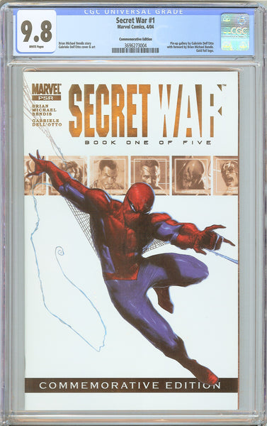 Secret War #1 CGC 9.8 White Pages (2004) 3696273004 Commemorative Edition