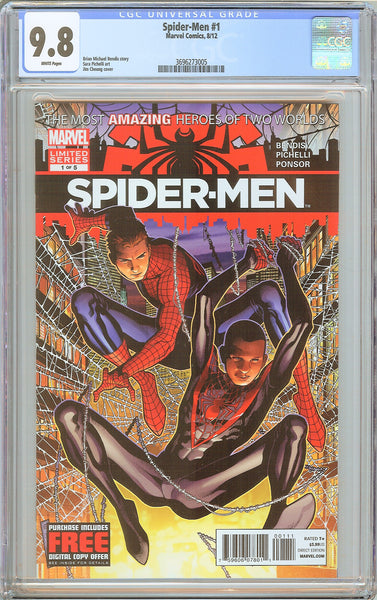 Spider-Men #1 CGC 9.8 White Pages (2012) 3696273005