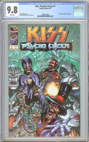 Kiss Psycho Circus #1 CGC 9.8 White Pages (1997) 3696273009