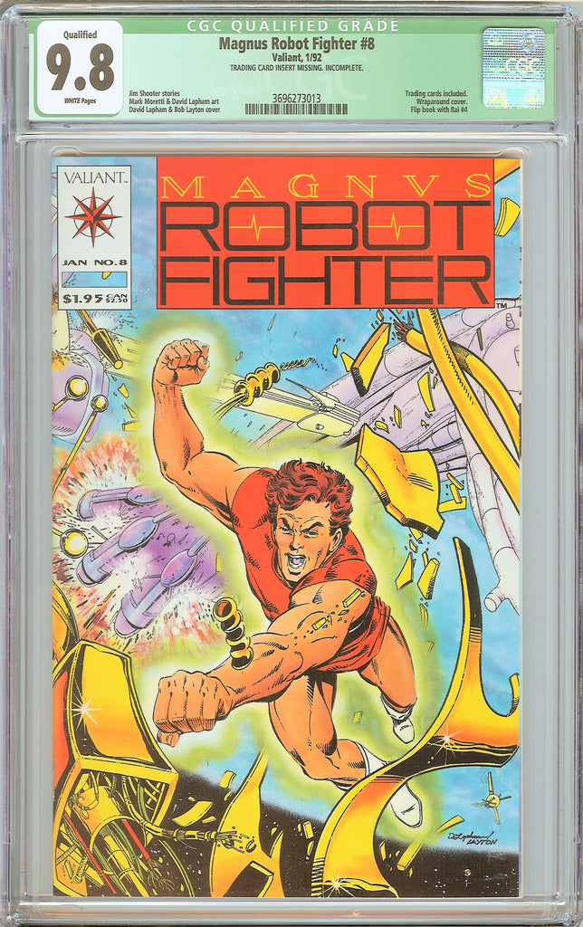 Magnus Robot Fighter #8 CGC Qualified 9.8 White Pages 1992 3696273013