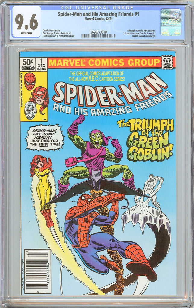 Spider-Man & his Amazing Friends #1 (1981) CGC 9.6 White Pages 3696273018