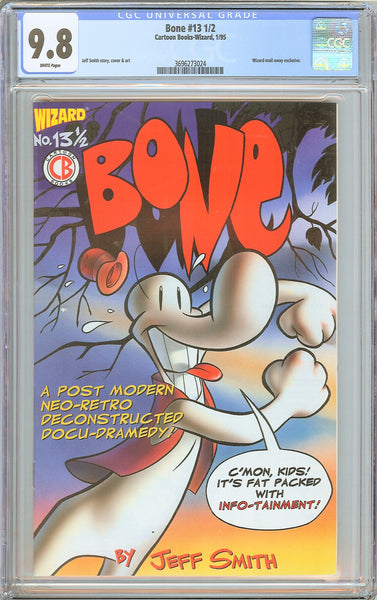 Bone #13 1/2 CGC 9.8 White Pages (1994) 3696273024