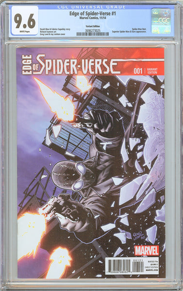 Edge of Spider-Verse #1 CGC 9.6 White Pages 3696273025 Variant Edition