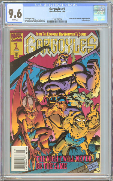 Gargoyles #1 CGC 9.6 White Pages 1995 3700175004 Embossed Newsstand
