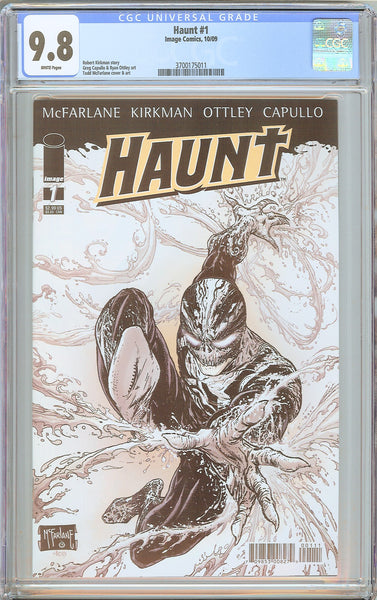 Haunt #1 CGC 9.8 White Pages (2009) 3700175011 Robert Kirkman Story