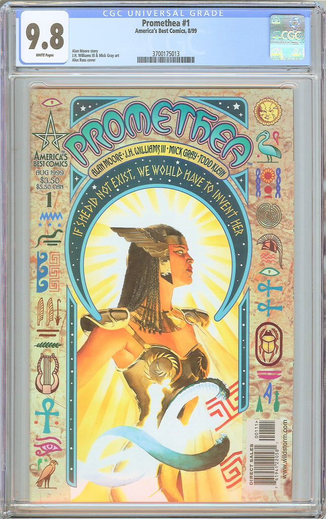 Promethea #1 CGC 9.8 WP 1999 3700175013 Alex Ross Cover