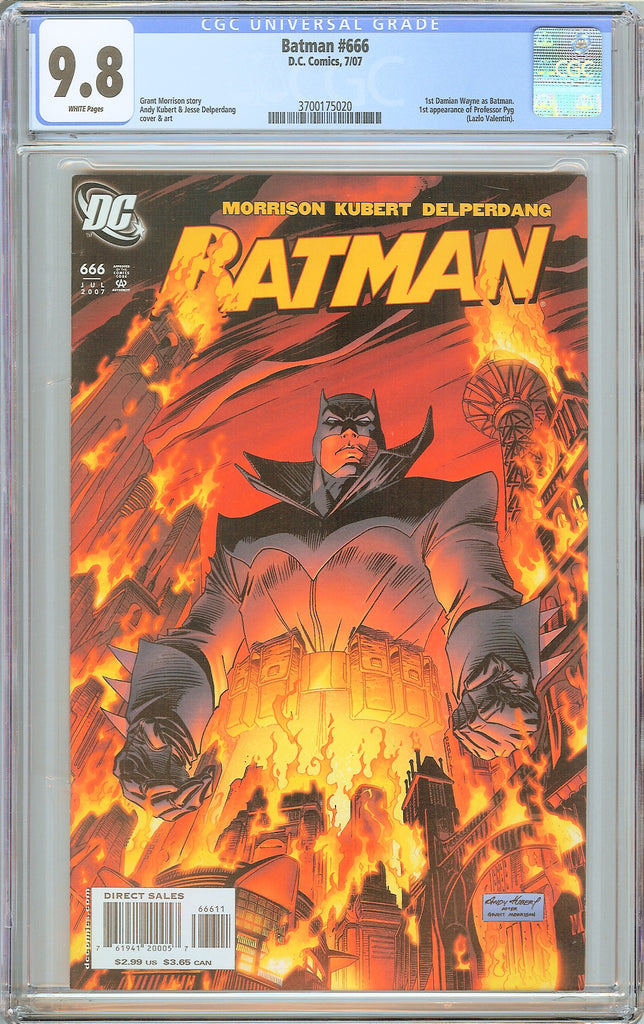 Batman # 666 CGC 9.8 White Pages 3700175020 Damian