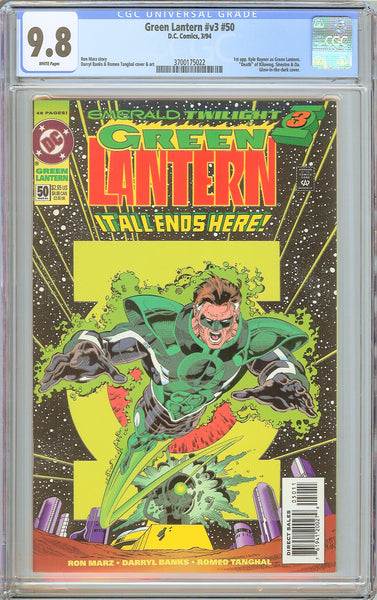 Green Lantern #v3 #50 CGC 9.8 WP (1994) 3700175022 Glow-in-dark cover