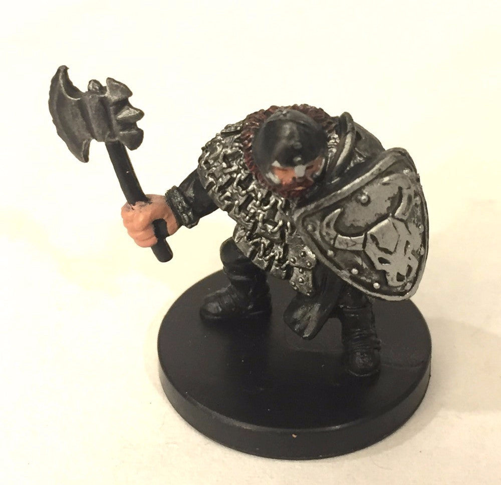 D&D Miniatures Aberrations 07/60 Hill Dwarf Warrior (C) NO STATS CARD !
