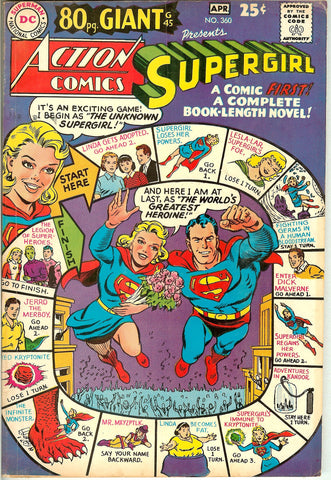 Action Comics #360 1968 FN+ 80 Pg. Giant
