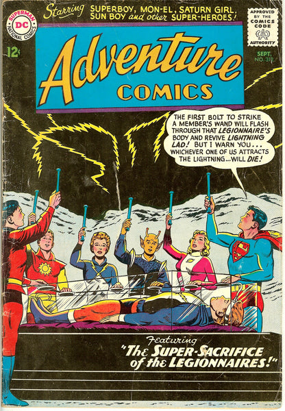 Adventure Comics ( Lot of 6 ) Vintage 1963-68 VG-FN