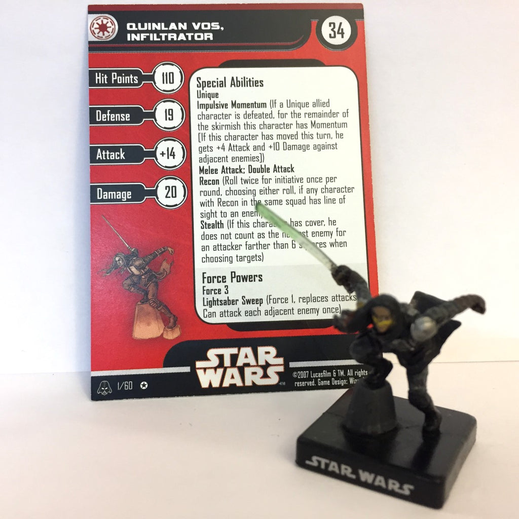 Star Wars Alliance & Empire 01/60 Quinlan Vos, Infiltrator (VR)