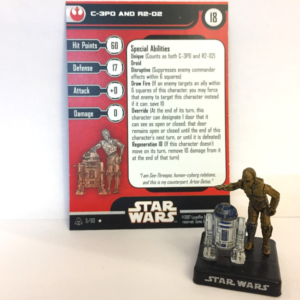 Star Wars Alliance & Empire 05/60 C-3PO and R2-D2 (R)