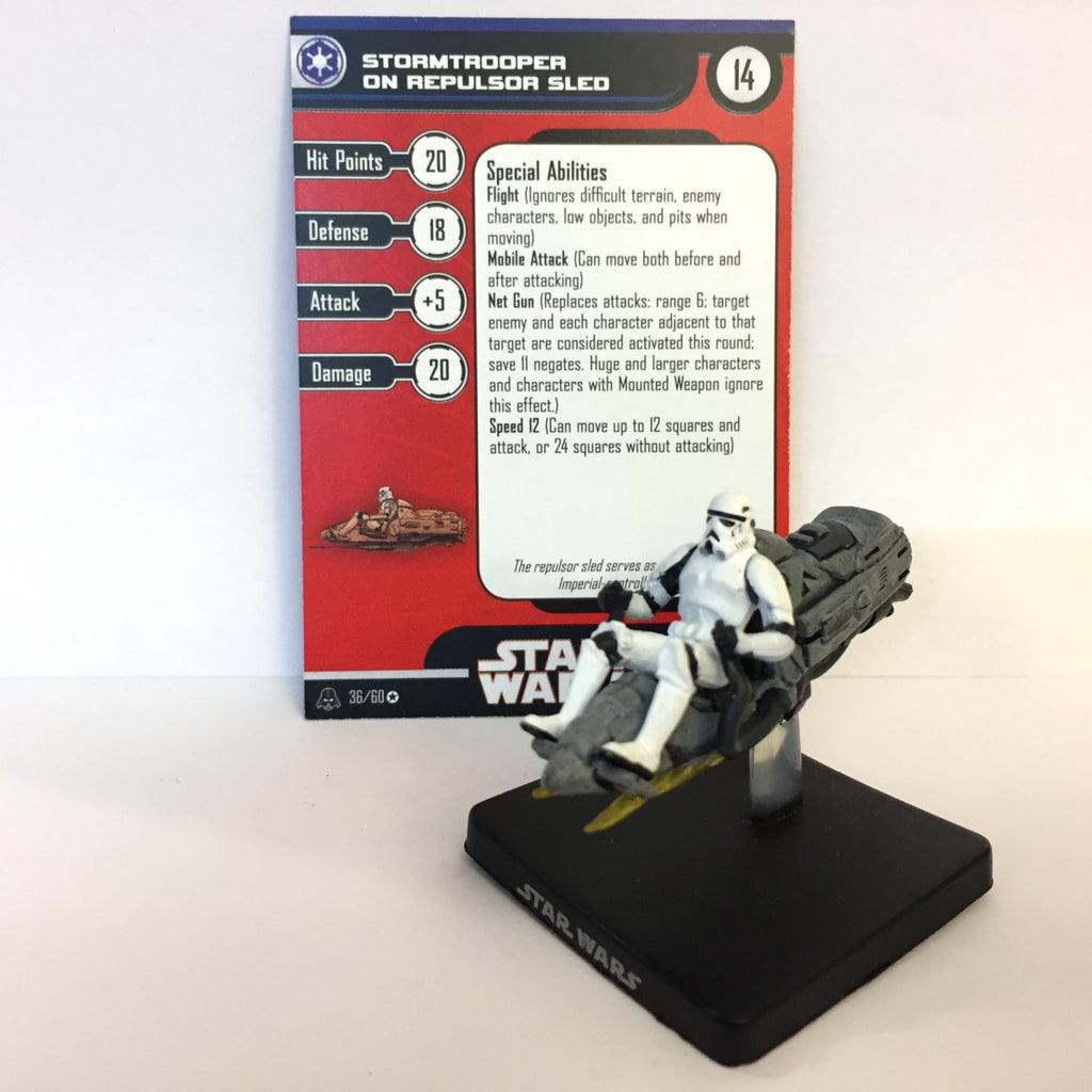 Star Wars Alliance & Empire 36/60 Stormtrooper on Repulsor Sled (VR)