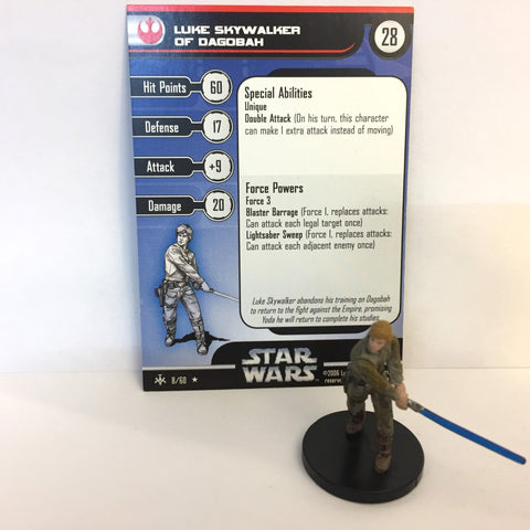 Star Wars Bounty Hunters #8 Luke Skywalker of Dagobah (R) Miniature