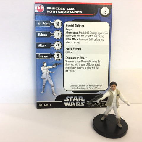 Star Wars Bounty Hunters #9 Princess Leia, Hoth Commander (R) Miniature